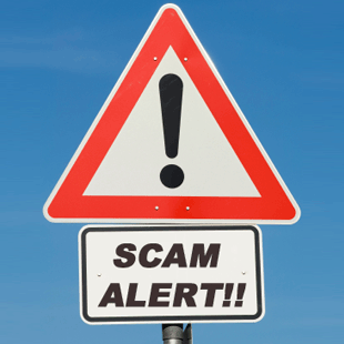 FTC Scam Warnings; Important! Scam-alert-signpost
