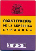 Historia del constitucionalismo español - Víctor Arrogante 150px-Cubierta_constitucion1931