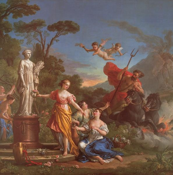 amours - La tenture des Amours des dieux au MBA d'Angers 9305_718_Vien-Proserpine-ornant-la-statue-de-Ceres