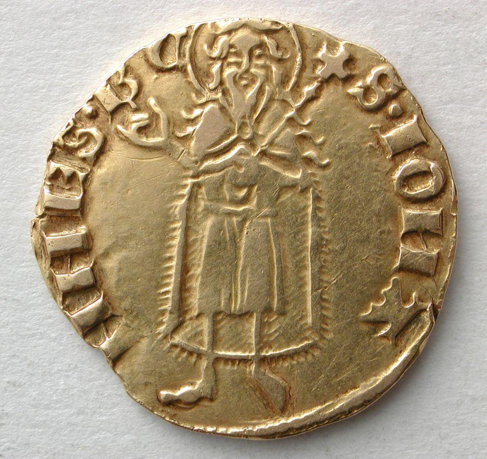 Florín de Pedro IV (1336-1387) de Zaragoza 33florin-de-pedro-ivzaragozaanversoororeino-de-aragon1369-1372nig08703