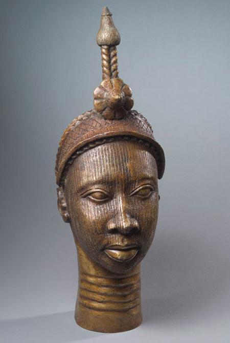 Afrička skulptura BronzeSculpture_HeadOfOlokun