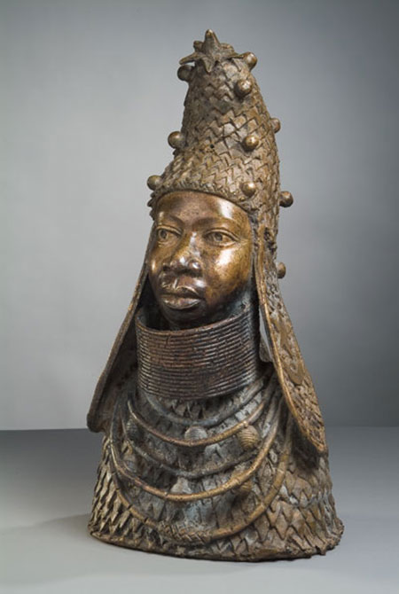 Afrička skulptura BronzeSculpture_RulerBust