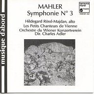 Mahler- 3ème symphonie Adler