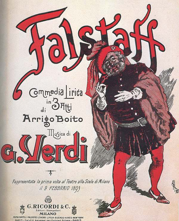 Shakespeare à l'opéra Falstaff_Ricordi