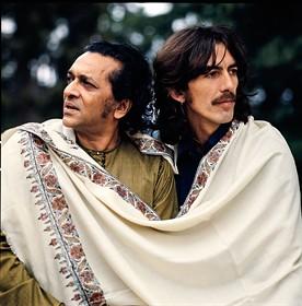 Collaborations  ***  George Harrison & Ravi Shankar Large_George
