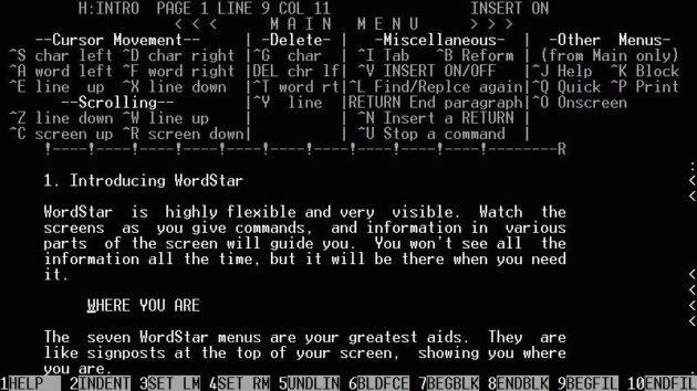 George R.R. Martin escribe Juego de Tronos en un procesador DOS Wordstar-630x354