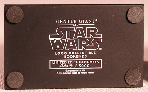 Gentle Giant - star wars logo book ends Review_swlogo_5