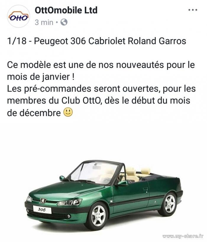 [ HOBBIES ] Miniaturas - Peugeot 306 Cabriolet al 1/18 Ottomobile Medium-18905-x93dwo-sg8s