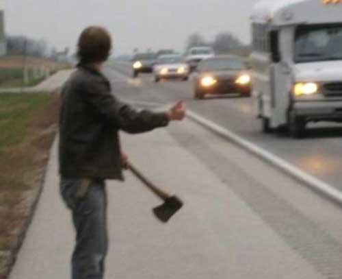 Imagens que te poem a cagar tijolos... Hitchhiker