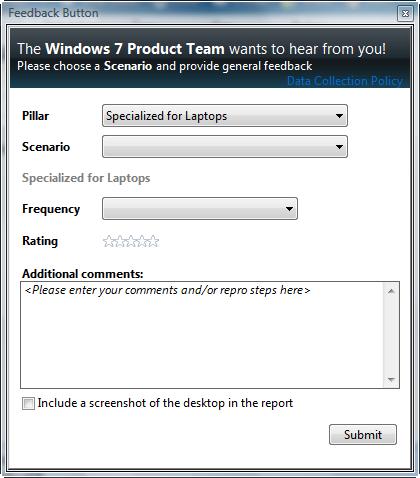 07/09/2008_Microsoft Windows 7 (Seven) - O mais esperado subtituto do vista! 7feedbacktool
