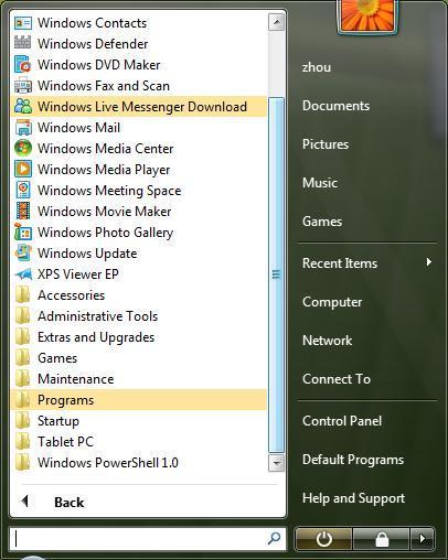07/09/2008_Microsoft Windows 7 (Seven) - O mais esperado subtituto do vista! 7startmenu