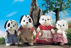 faire des customs de personnages petits malins Sylvanian-families-dalmatian-family