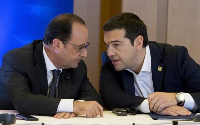 Τηλεφωνική συνομιλία Αλ. Τσίπρα - Ολάντ Tsipras-olant-sunodos-korufis-brukselles