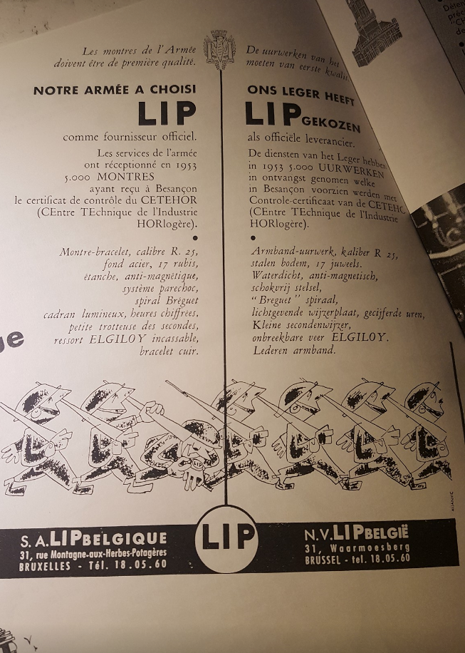 Montre LIP de l'armée belge? Belge