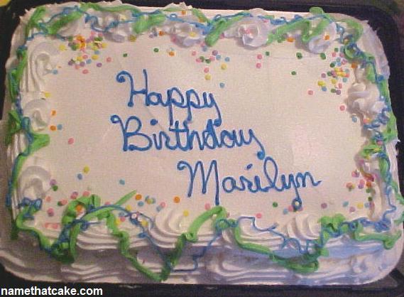 Happy Birthday, Marilyn! Marilyn