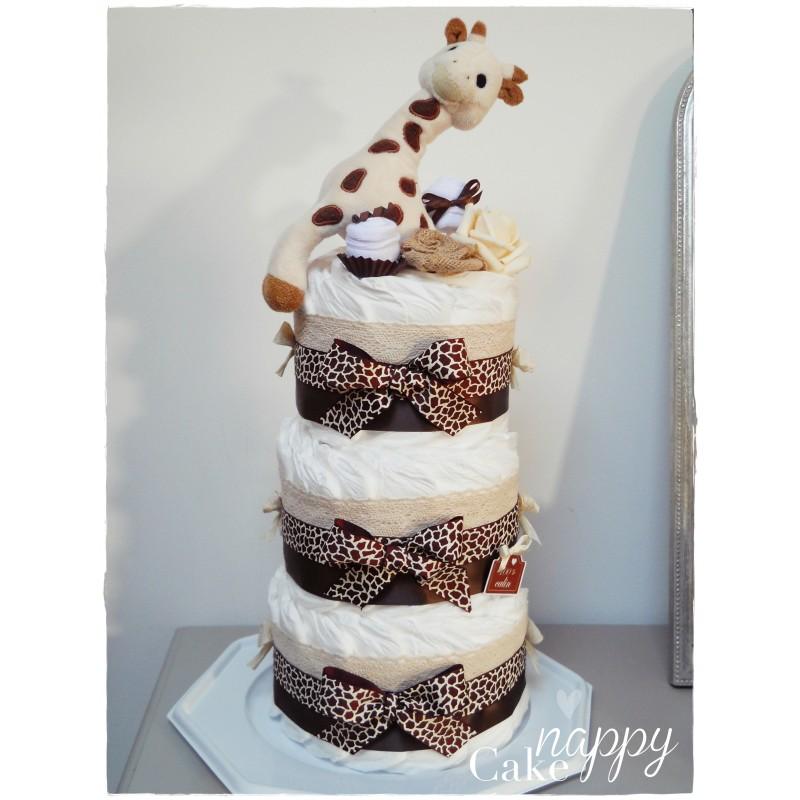 jraff 2019 l'anniv  Gateau-de-couches-elegance-sophie-la-girafe-nappy-cake
