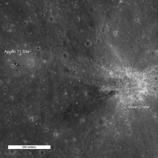 Apollo 11 par LRO 400201main1_lroc_apollo11_20091109_540
