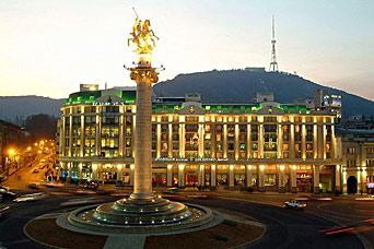 גרוזיה -ערוצים מגרוזיה בגרוזינית  GEORGIA TV Freedom-Square-Tbilisi