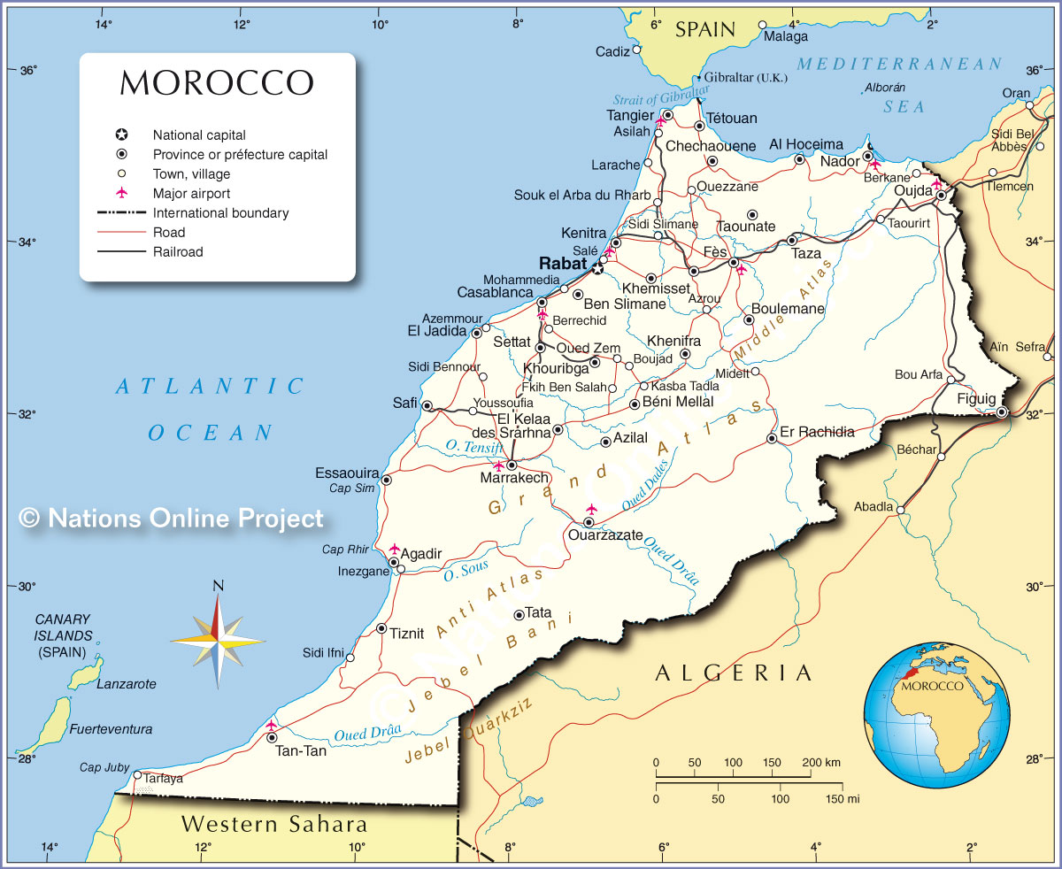 Nintendo Not-E3 and General E3 2015 Thread - Page 6 Morocco-political-map