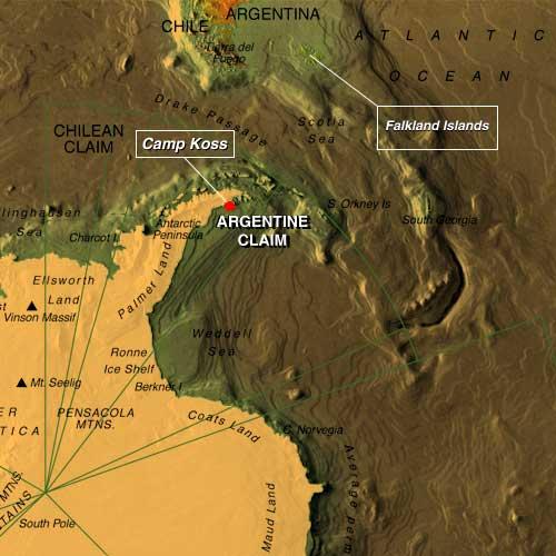 La tragedia de Camp Koss: mito o una realidad? Main_map