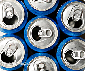 Consuming certain beverages will dehydrate the entire body  Blue-Soda-Cans-Open