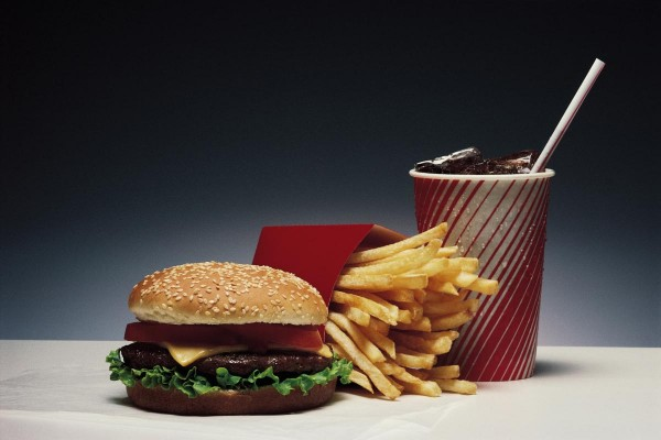 Breakthrough allows scientists to track toxic chemicals from fast food wrappers as they contaminate the body Hamburger-French-Fries-Soda-e1486395069131