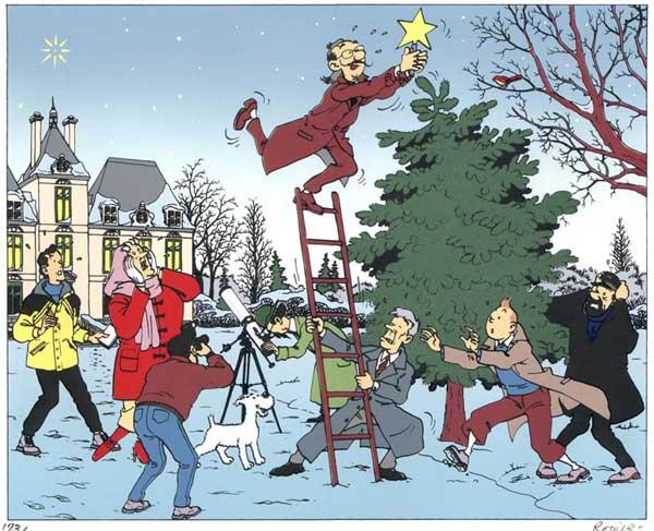 """Le Noël de Tintin, en un temps où la ferveur religieuse était plus importante que la ferveur """"acheteuse"""". Noel2"""