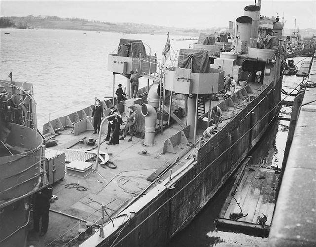 destroyer Hms Campbeltown par Galaad au 1/570 - Revell WW2Ships-Campeltownconverting