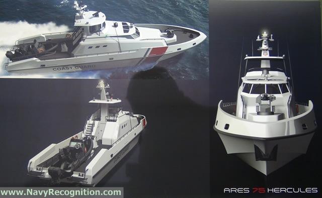 حزمة تسليحيه ضخمه لقطر  ARES_75_Hercules_multi-role_patrol_craft_Qatar_CG_DIMDEX_2014_news