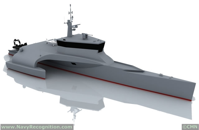OPV: Offshore Patrol Vessels  CMN_OCEAN_EAGLE_40_Maritime_Surveillance_Trimaran_Fast_Patrol_Craft_NAVDEX_2013_pictures_news