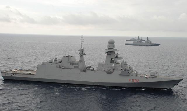 Armée Italienne/Forze Armate Italiane - Page 14 Italian_Navy_Three_FREMM_Frigate_Marina_Militare