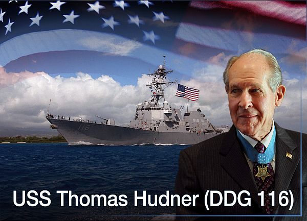 US Navy - Page 13 Arleigh_Burke-class_guided-missile_destroyer_USS_Thomas_Hudner_DDG_116