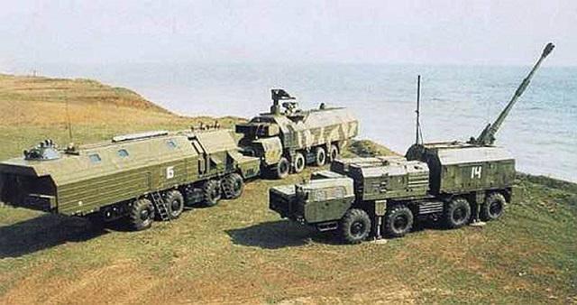 Coastal Missile Systems - Page 2 A-222E_Bereg-E_mobile_coastal_artillery_system_1