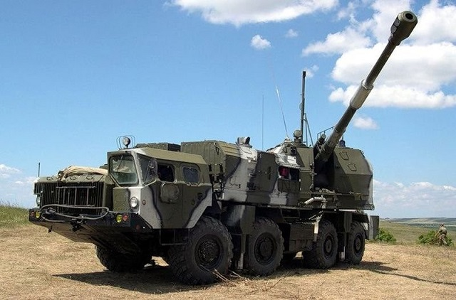 Coastal Missile Systems - Page 2 A-222E_Bereg-E_mobile_coastal_artillery_system_2
