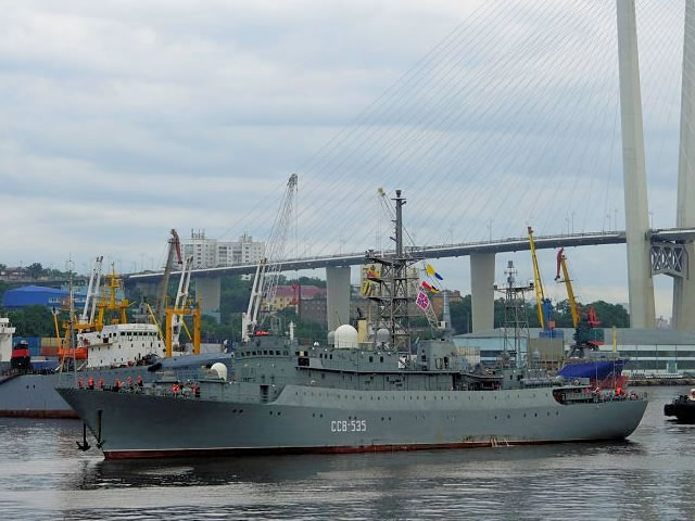 Auxilliary vessels, Special-purpose and minor naval ships - Page 7 Intelligence_ship_Karelia_Russia_Pacific_Fleet