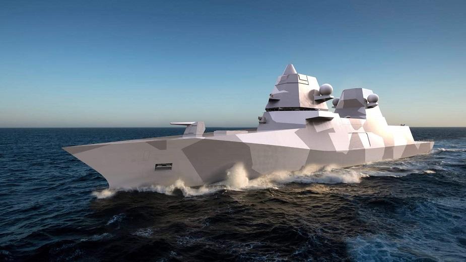 """The """"Omega"""" frigate by Damen IndoDefence_2018_Damen_Unveils_6000_Tons_Omega_Frigate_1"""