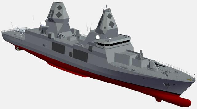 مستقبل البحريات العربية..استراليا نموذجا SEA5000_CEAFAR2_CEA_Radar_TKMS_F-125_PACIFIC_2015