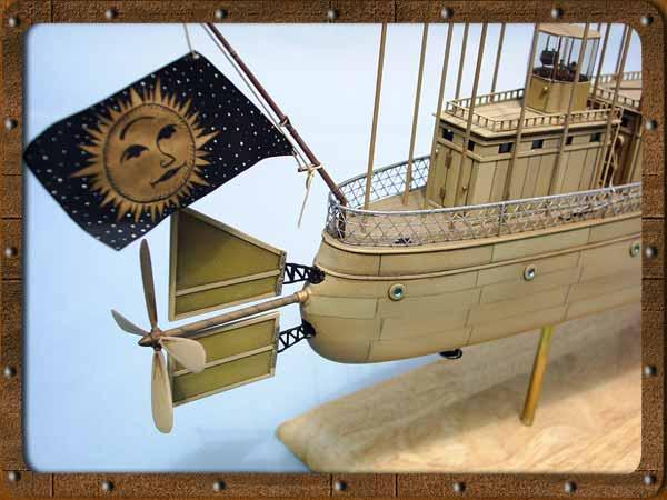 Jules Verne sous Flight Simulator : Robur le Conquérant par Michel Lagneau Albatros_poupe