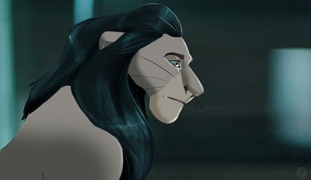 un dibujo del rey leon aparece en la peliula de los vengadores Lion7