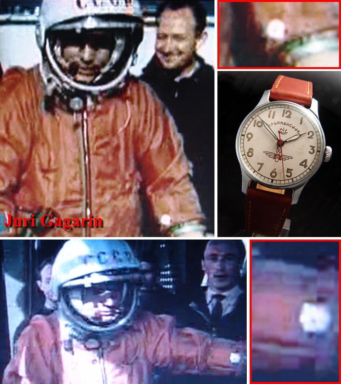 Les montres Russes et l'espace Gagarin