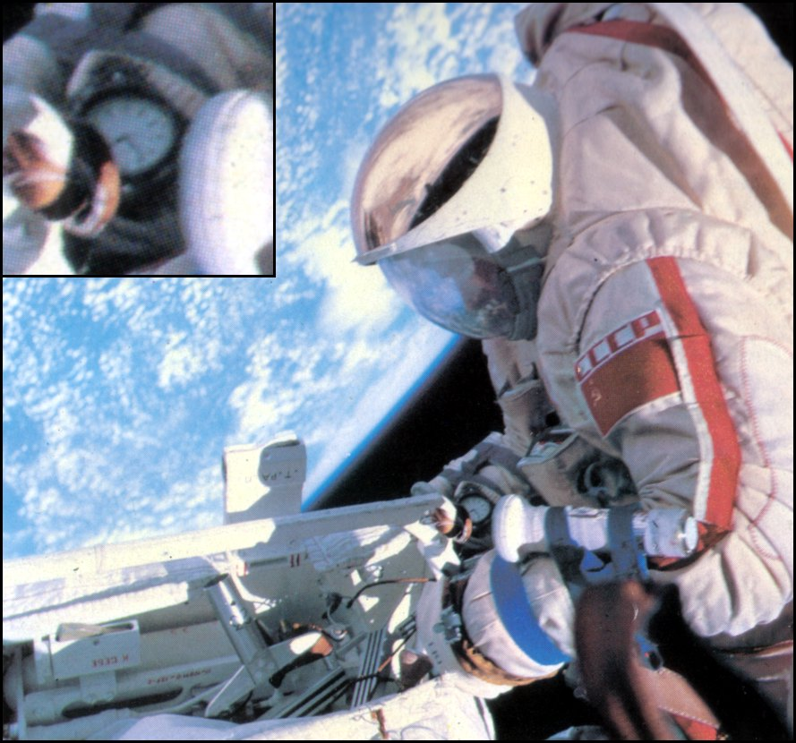 Les montres Russes et l'espace Spacegallery5