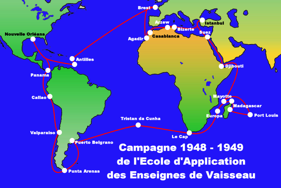 Navires en visite au Maroc - Page 2 1948-49