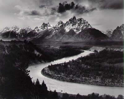 Sud Tirolo Ansel_Adams-The_Tetons_and_the_Snake_River-1942