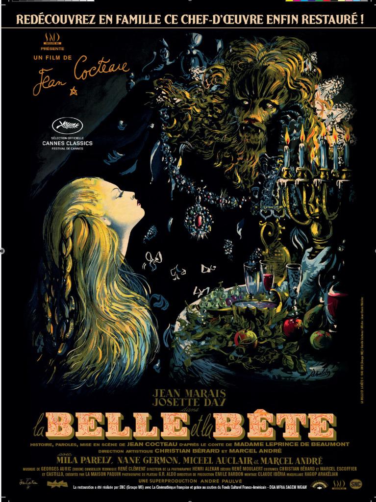 La Belle et la Bête La-Belle-et-la-b%C3%AAte-Jean-Cocteau-Affiche1