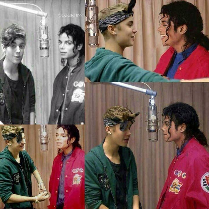 Diffuso in rete un duetto inedito postumo tra MJ e Justin Bieber 1236040_558310604204586_1434209652_n