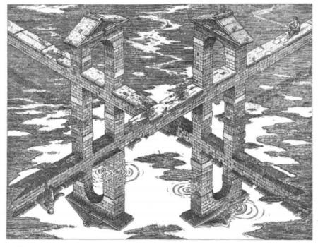 صور خداع بصري وفن - روعة - Bridge-optical-illusions