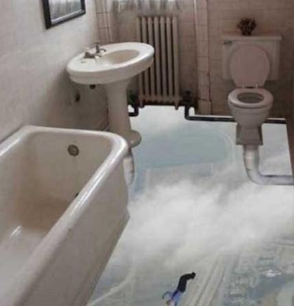 Opticke iluzije Floorless-bathroom-optical-illusion
