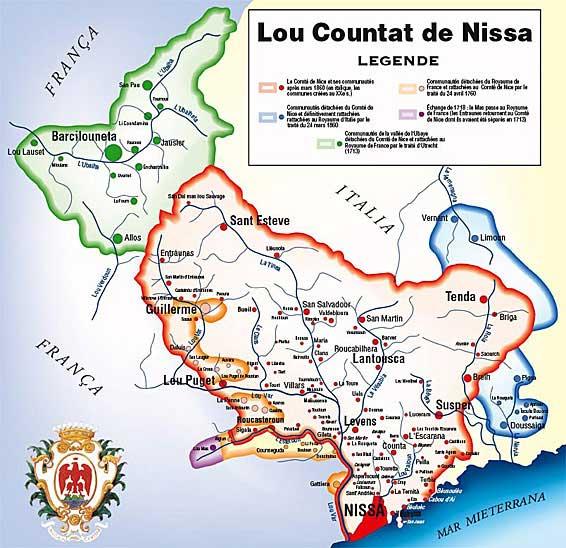 Villes et villages du Comté Countat