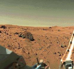 De quelle couleur est le ciel de Mars ? Viking1_view2