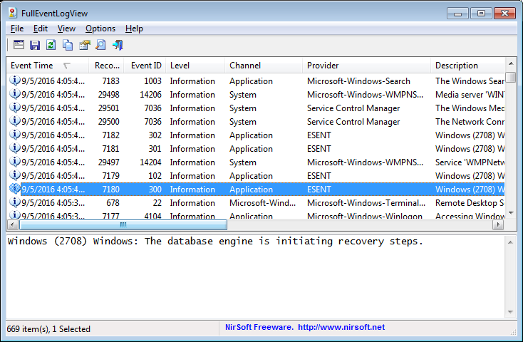 Windows10 - 26 Tools Fulleventlogview